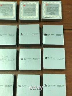 Lot of (25) CANADA 1 Dollar 1987 Proof Silver Davis Strait BOX & COA