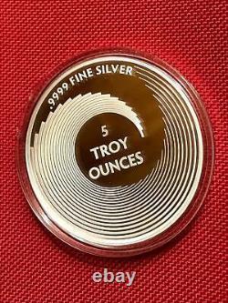 New 5 oz Art Nouveau'Alphonse Mucha' Fine Silver'BLONDE' Proof Art Round