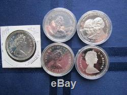 Nine Canadian Silver Dollars! & Sterling Silver Dianna & Charles Proof Coins