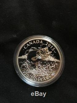 North American Sportfish 4 coin set $20 Canada silver 1oz proof Bass Walleye etc