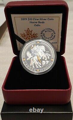 ODIN 2019 Norse Gods $20 1OZ Pure Silver Proof Coin Canada
