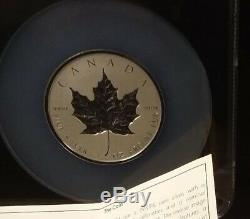 PERFECT 2018 Canada 3oz Silver Maple Leaf INCUSE Rev Proof NGC PF70 1st Release