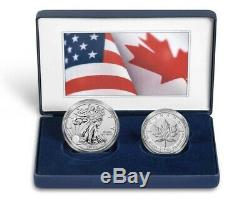 Pride of Two Nations Limited Edition Set 2019 W Reverse Pr Silver Eagle & Canada