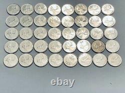 ROLL of 40 CANADA BU proof-like 80% SILVER QUARTERS. 1962 1963 1964 1965 1966