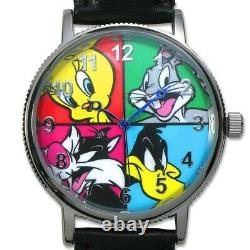 SALE! 2015 Looney Tunes Set (4) 1 oz. 999 Silver PROOF Coins & Wrist Watch