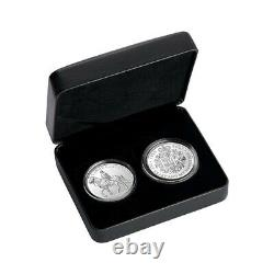 Sale Price 2021 2 oz Royal Celebration Proof Silver 2-Coin Set (withBox & COA)