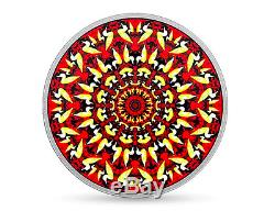 The Loon Kaleidoscope Canadiana $20 2017 60mm 1OZ Pure Silver Proof Coin Canada