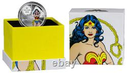 WONDER WOMAN. 999 silver coin 1oz proof 2016 Canada $20 coin withbox & COA